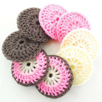 Nylon Net Pot Scrubber - Set of 8 - The Neapolitan Collection - Crochet Dish Scrubbies