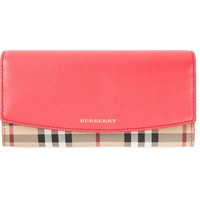 Burberry 'Haymarket' check continental wallet