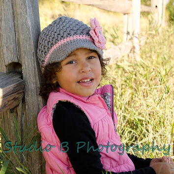 Crochet Pattern for Landyn Newsgirl (Newsboy) Beanie Hat - 5 sizes, baby to adult - Welcome to sell finished items
