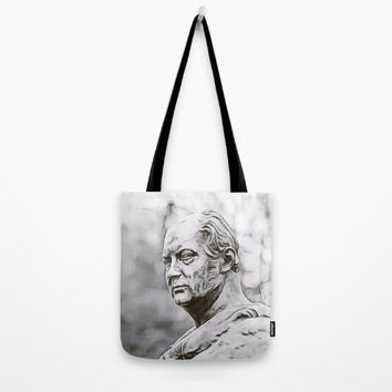 Marble portrait bust of a man Tote Bag by Taoteching / C4Dart