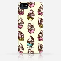 Cute Cupcake iPhone 6 Case iPhone 5 Case iPhone 5s Case iPhone 5c case iPhone 4 Case Samsung Galaxy s5 Case iPhone Hard Plastic Case