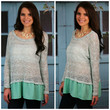 When I'm With You Mint Ruffle Sweater