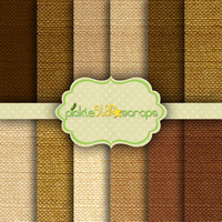 Natural Burlap 12 Digital Scrapbook Papers - 12x12inch - Printable Backgrounds - Fabric Burlap Canvas Texture - INSTANT DOWNLOAD