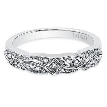 "Kirk Kara ""Dahlia"" Leaf Diamond Wedding Band"