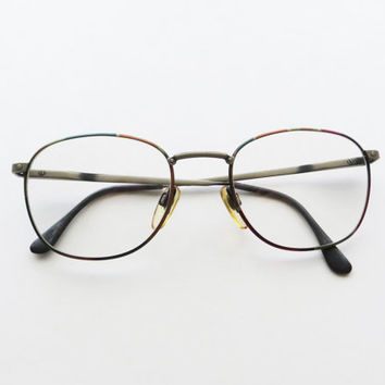 Vintage Marcolin Eyegasses VILLAGE Style Colorful Wire Rim Frames Made in Italy