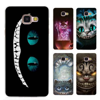 Hot sale Alice in Wonderland Cheshire Cat Clear Case Cover Coque Shell for Samsung Galaxy A3 A5 A7 A8 2016 2017 A9 Pro