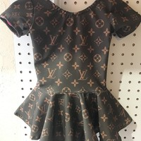 Desigenr louis vuitton skirted leotard girls inspired louis vuitton dress fashion designer leo