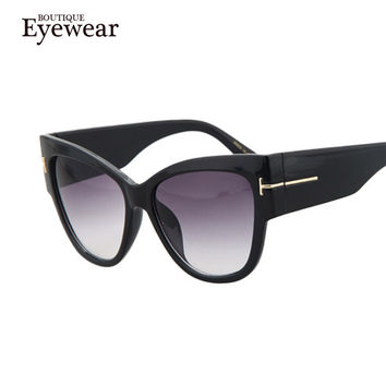 BOUTIQUE New Fashion Cat Eye Sunglasses Women Oversized Steampunk Vintage Sun Glasses For Ladies Retro Brand Designer
