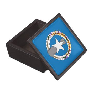 Northern Mariana Islands Flag Premium Gift Box