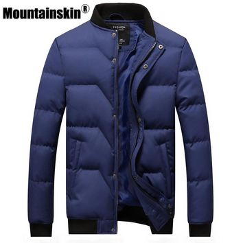 Mountainskin Winter Jackets Men's Parkas 4XL Casual Thicken Coats Men Outerwear Stand Collar Male Jackets Brand Clothing SA361