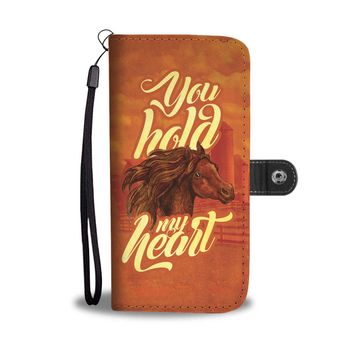 You hold my heart, horse design phone case, wallet