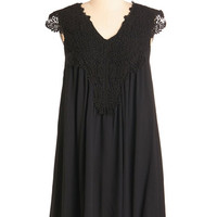 ModCloth Boho Mid-length Cap Sleeves Shift, Tent I Want it That Sway Dress