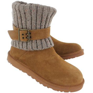 UGG Australia Women's CAMBRIDGE chestnut sheepskin buckle boots 13-1003175 CHE