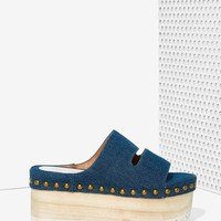 Jeffrey Campbell Ezra Denim Flatform