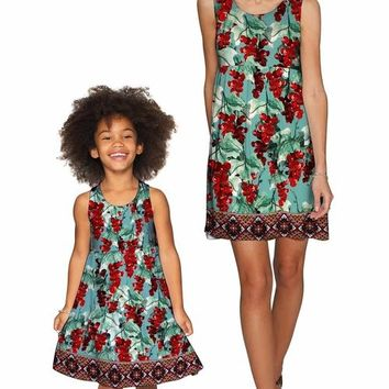 Toscana Sanibel Green Fit & Flare Empire Dress -