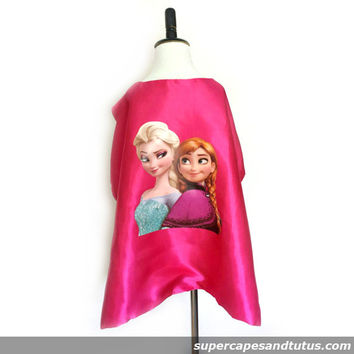 Frozen Anna and Elsa Cape and Mask