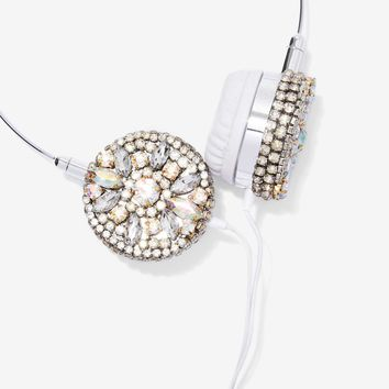 Skinnydip London Hear Them Bling Rhinestone Headphones