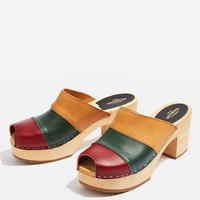 HIPPIE Slip On Mules by Swedish Hasbeens   Topshop