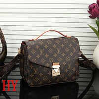 LV Louis Vuitton Women Fashion Leather Crossbody Handbag Satchel Shoulder Bag