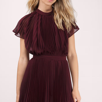 Keepsake Come Back Pleated Mini Dress