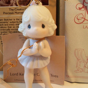 Precious Moments Lord Keep Me On My Toes Christmas Ornament 1986