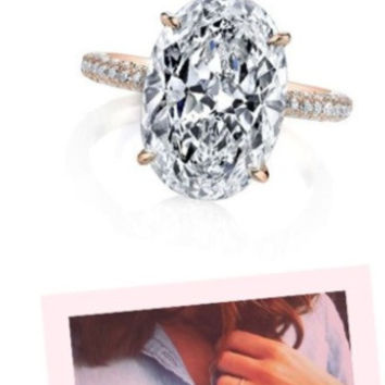 4.10ct H-VS2 Oval Diamond Engagement Ring  Blake Lively JEWELFORME BLUE GIA certified
