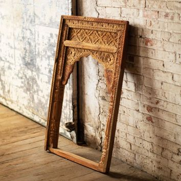 Hand Carved Wooden Chokhat Window Frame