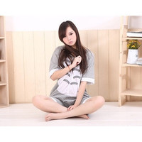 Women's Spring Summer Character Totoro One Piece Pajamas Adult Cosplay Costume Onesuit