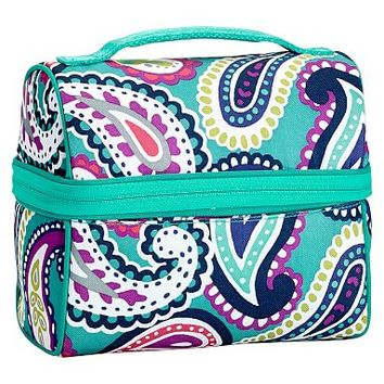 Gear-Up Pool Paisley Retro Lunch Bag