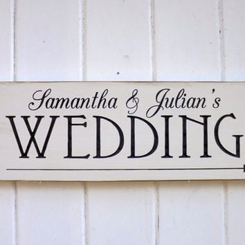 Custom Made Wedding Sign With Directional Arrow Carved Wood Sign