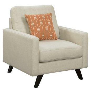 Coaster 506173 Montana collection mid century modern style linen patterned woven fabric upholstered chair