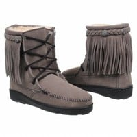 Women's Minnetonka Moccasin Pile Lined Tramper Grey Suede Shoes.com