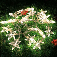 New 2.5M 20LED Warm White Star String Light Battery Powered Party Festival Decor Light