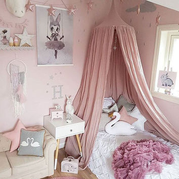 2017 Popular 240cm Mosquito Net baby room decoration home bed curtain Round Crib Netting baby tent cotton Hung Dome baby Mosquit