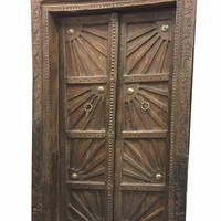 Sunshine Farmhouse Antique Indian Doors Hand Carved Haveli Double Door