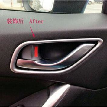 for Mazda CX-5 2012-2013 Automobile ABS Chrome Interior Doors Handle  Car  Styling Stickers Accessories 4 Pcs