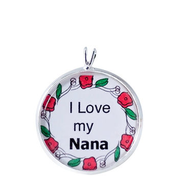 Nana Quote Charm Necklace, Family Pendant, Saying Charm, Quote, Saying, Special Moments, Grandma, Family, Pendant Necklace