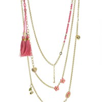 Multi Layer Charm Necklace by Juicy Couture