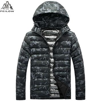 Winter Jackets men Casual Men Jackets And Coats military camouflage light cotton Parka Men Clothing