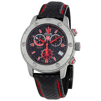 Swiss Military Rallye GMT Black Dial Chronograph Mens Watch 27461