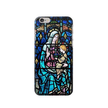 P2747 Mosaic Colourful Lady Mary Phone Case For IPHONE 6S