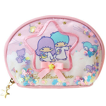 Buy Sanrio Little Twin Stars Organdy & Sequins Rounded Zipped Pouch at ARTBOX
