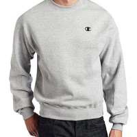 Champion Men's Pullover Eco Fleece Sweatshirt, Oxford Gray, Medium