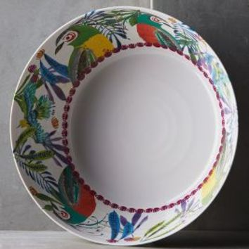 Aperta Melamine Serving Bowl by Anthropologie in Green Size: Serving Bowl Serveware