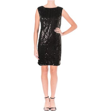 As U Wish Womens Juniors Sequined Sleeveless Party Dress