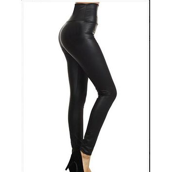Vegan Liquid Leather Leggings