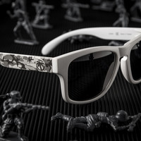 Cruiser Sunglasses: Snow Camo Customs