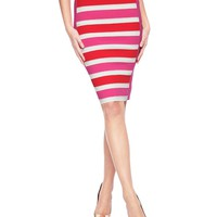 Salton Stripe Pencil Skirt by Juicy Couture,