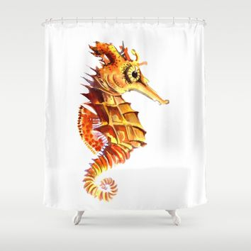 Seahorse Shower Curtain by SurenArt