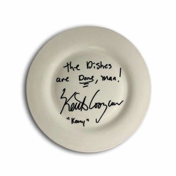 """KEITH COOGAN SIGNED INSCRIBED PLATE """"DON'T TELL MOM BABYSITTER'S DEAD"""" JSA COA"""